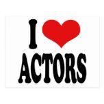 I Love Actors Postcard