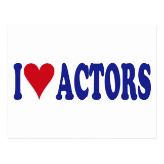 I Love Actors Postcard