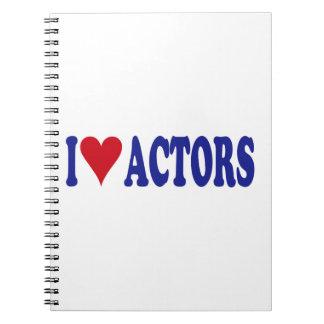 I Love Actors Spiral Notebook