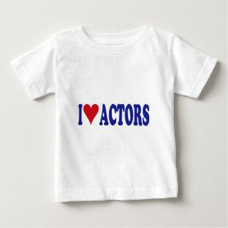 I Love Actors T Shirt