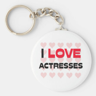I LOVE ACTRESSES BASIC ROUND BUTTON KEYCHAIN