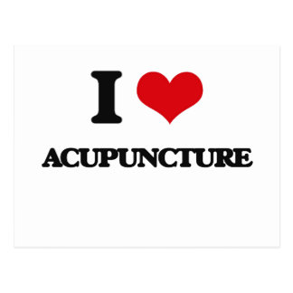 I Love Acupuncture Post Cards