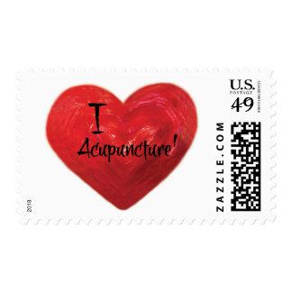 I Love Acupuncture Stamp