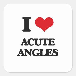 I Love Acute Angles Square Sticker