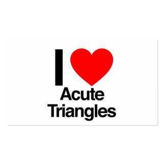 i love acute triangles business cards