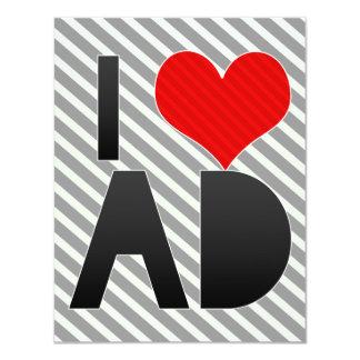 I Love AD 4.25x5.5 Paper Invitation Card