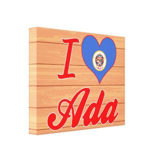 I Love Ada, Minnesota Gallery Wrapped Canvas