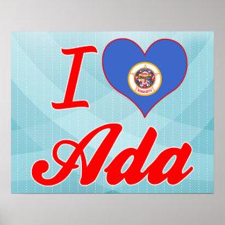 I Love Ada, Minnesota Poster