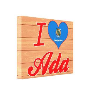 I Love Ada, Oklahoma Gallery Wrapped Canvas