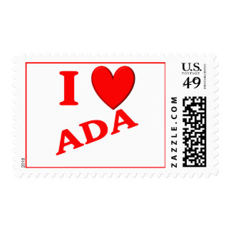 I Love Ada Stamps