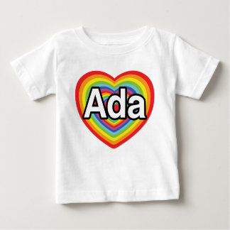 I love Ada, rainbow heart T Shirt