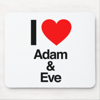 i love adam and eve mouse pad