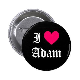 I Love Adam 2 Inch Round Button