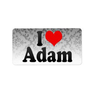 I love Adam Custom Address Label