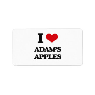 I Love Adam'S Apples Custom Address Label