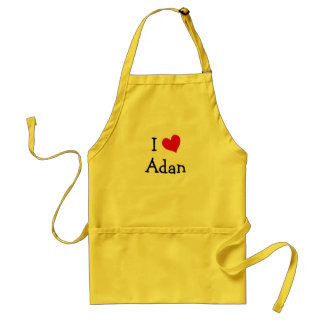 I Love Adan Adult Apron