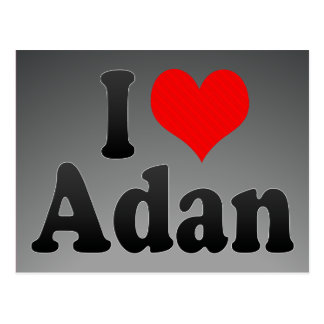 I love Adan Postcard