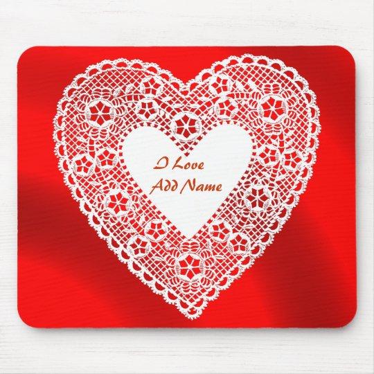 I LOVE- ADD NAME-MOUSEPAD MOUSE PAD