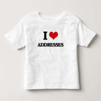 I Love Addresses Tshirts
