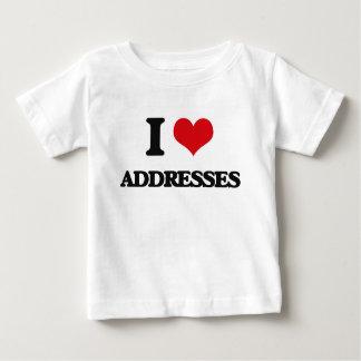 I Love Addresses Tshirt