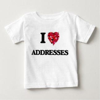 I Love Addresses Tees
