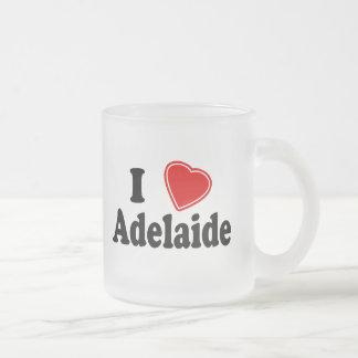 I Love Adelaide Frosted Glass Coffee Mug