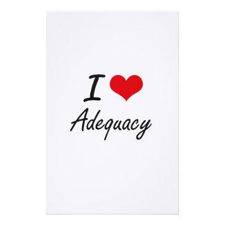 I Love Adequacy Artistic Design Stationery