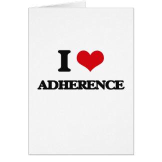 I Love Adherence Greeting Card