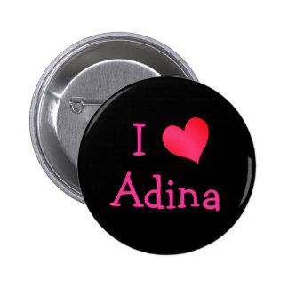 I Love Adina Button