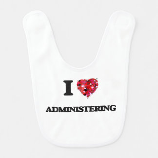 I Love Administering Baby Bibs