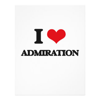I Love Admiration Personalized Flyer