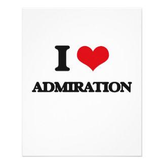 I Love Admiration Flyers