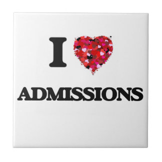I Love Admissions Small Square Tile
