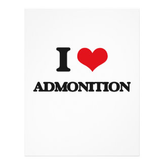 I Love Admonition Full Color Flyer