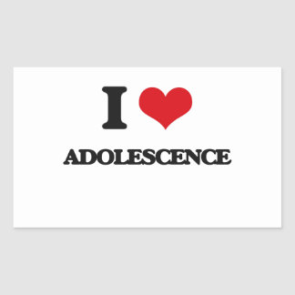 I Love Adolescence Rectangle Sticker