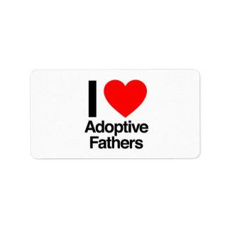 i love adoptive fathers custom address label