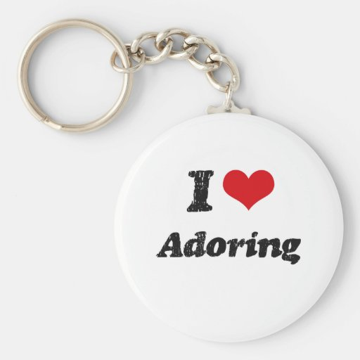I Love Adoring Key Chains