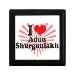 I love Aduu Shurguulakh Keepsake Boxes