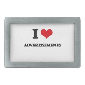 I Love Advertisements Rectangular Belt Buckles