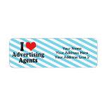 I Love Advertising Agents Return Address Label