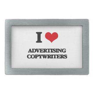 I love Advertising Copywriters Belt Buckle
