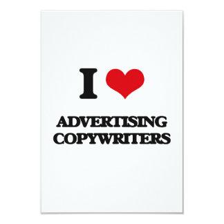 "I love Advertising Copywriters 3.5"" X 5"" Invitation Card"