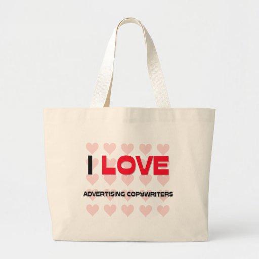 I LOVE ADVERTISING COPYWRITERS JUMBO TOTE BAG