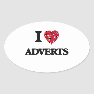 I Love Adverts Oval Sticker