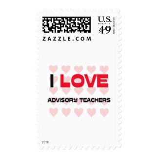 I LOVE ADVISORY TEACHERS STAMPS