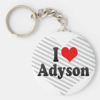 I love Adyson Keychain