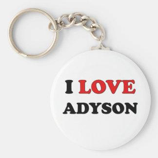 I Love Adyson Keychains