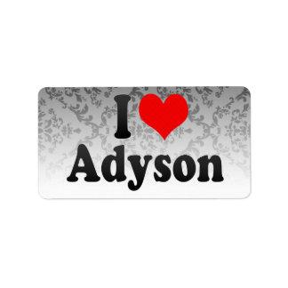 I love Adyson Label