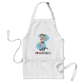 I Love Aerobics Adult Apron