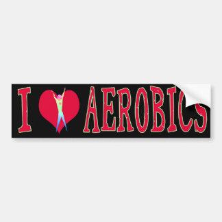 I Love Aerobics Car Bumper Sticker